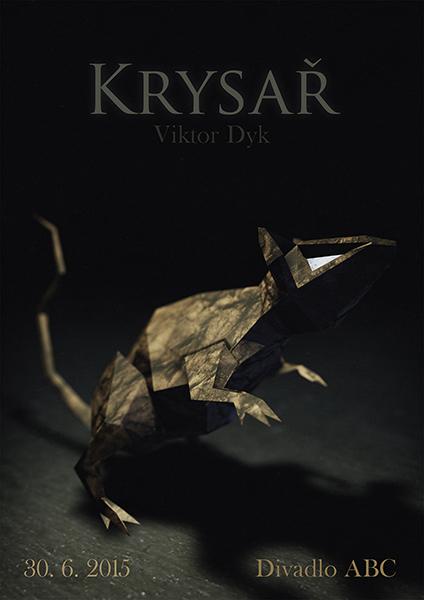 Plakát - Krysař, 3D modeling