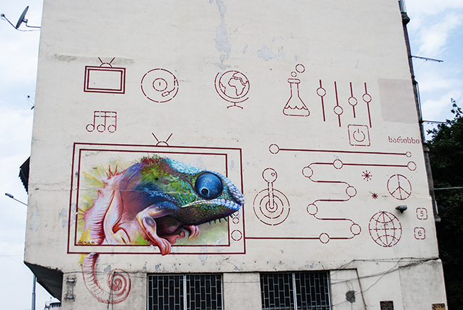 Street art v Tbilisi